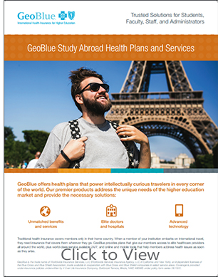 GeoBlue International Student Health Insurance for Inbound Students, Faculty, Administrators
