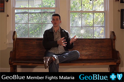 GeoBlue Member Fights Malaria.  Voyager Choice is the solution